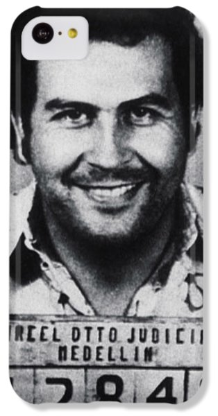 South America iPhone 5c Case - Pablo Escobar Mug Shot 1991 Vertical by Tony Rubino
