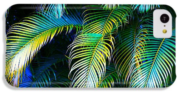 Palm Leaves In Blue IPhone 5c Case