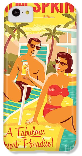 Desert iPhone 5c Case - Palm Springs Poster - Retro Travel by Jim Zahniser