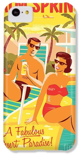 Desert iPhone 5c Case - Palm Springs Retro Travel Poster by Jim Zahniser