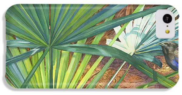 Bluejay iPhone 5c Case - Palmettos And Stellars Blue by Marguerite Chadwick-Juner