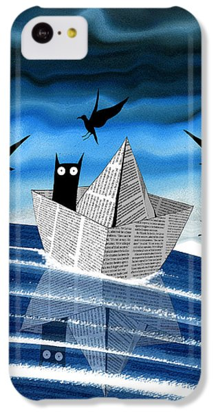 Seagull iPhone 5c Case - Paper Boat  by Andrew Hitchen
