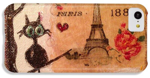 Paris Cat  IPhone 5c Case by Roxy Rich