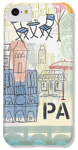Paris Cityscape- Art By Linda Woods IPhone 5c Case
