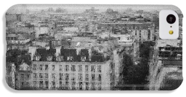 Paris In The Rain  IPhone 5c Case by Dubi Roman
