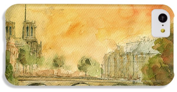 Paris Notre Dame IPhone 5c Case by Juan  Bosco