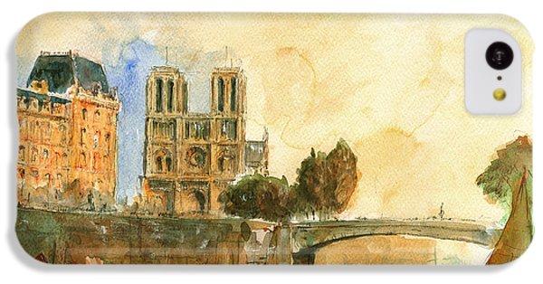 Paris Watercolor IPhone 5c Case