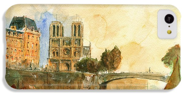 Paris Watercolor IPhone 5c Case by Juan  Bosco