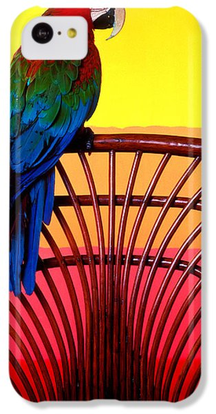 Parrot Sitting On Chair IPhone 5c Case by Garry Gay