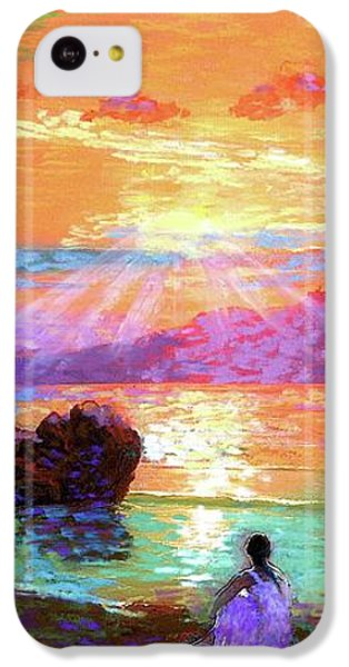 Figurative iPhone 5c Case - Peace Be Still Meditation by Jane Small