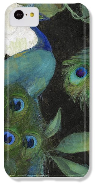 Peacock iPhone 5c Case - Peacock And Magnolia II by Mindy Sommers