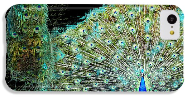 Peacock Pair On Tree Branch Tail Feathers IPhone 5c Case