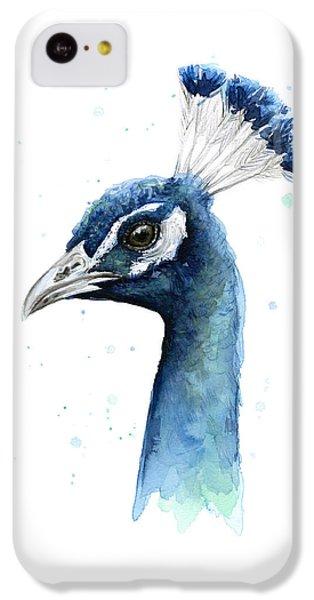 Peacock Watercolor IPhone 5c Case by Olga Shvartsur
