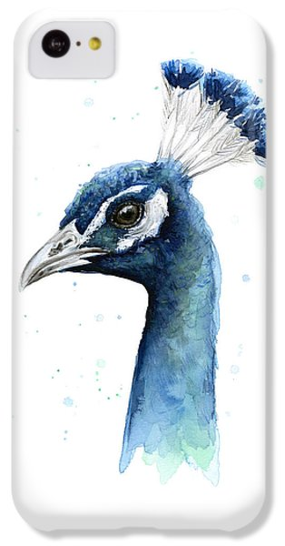 Peacock Watercolor IPhone 5c Case