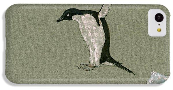 Penguin iPhone 5c Case - Penguin Jumping by Juan  Bosco
