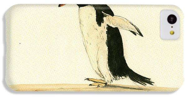 Penguin iPhone 5c Case - Penguin Walking by Juan  Bosco
