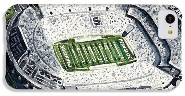 Penn State Beaver Stadium Whiteout Game University Psu Nittany Lions Joe Paterno IPhone 5c Case by Laura Row