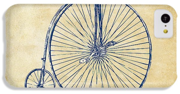 Bicycle iPhone 5c Case - Penny-farthing 1867 High Wheeler Bicycle Vintage by Nikki Marie Smith