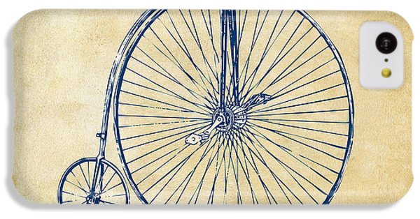 Penny-farthing 1867 High Wheeler Bicycle Vintage IPhone 5c Case by Nikki Marie Smith