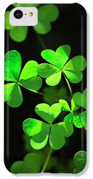 Perfect Green Shamrock Clovers IPhone 5c Case