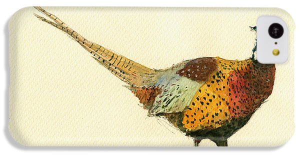 Pheasant iPhone 5c Case - Pheasant Bird Art by Juan  Bosco