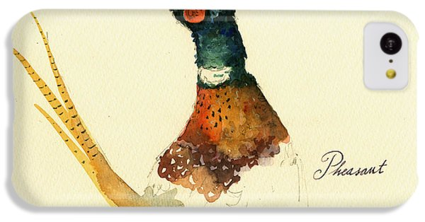 Pheasant iPhone 5c Case - Pheasant Painting by Juan  Bosco