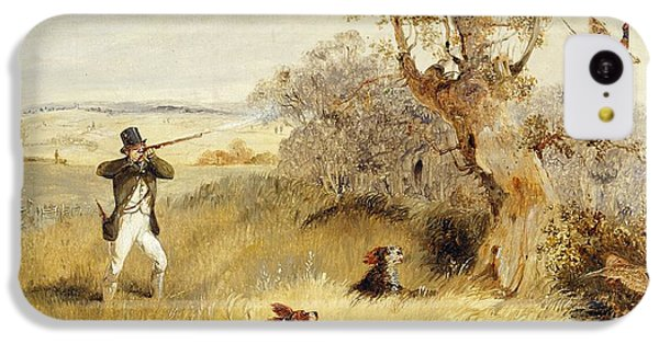 Dog iPhone 5c Case - Pheasant Shooting by Henry Thomas Alken