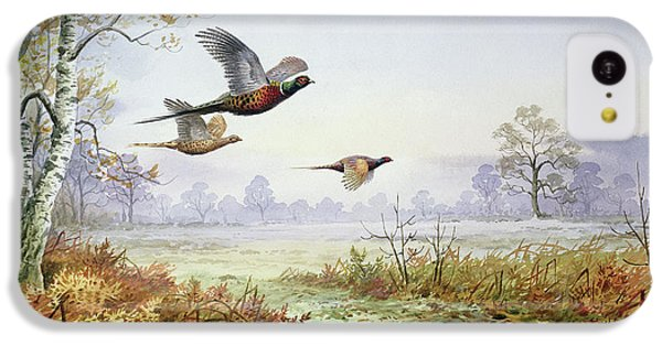 Pheasants In Flight  IPhone 5c Case by Carl Donner