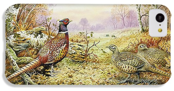 Pheasant iPhone 5c Case - Pheasants In Woodland by Carl Donner