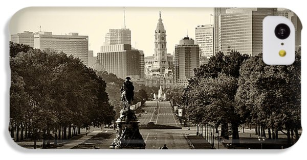 Philadelphia Benjamin Franklin Parkway In Sepia IPhone 5c Case
