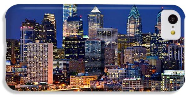 Philadelphia Skyline At Night IPhone 5c Case by Jon Holiday