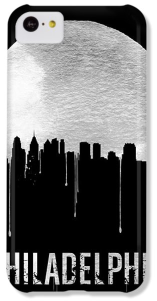 Philadelphia Skyline Black IPhone 5c Case by Naxart Studio