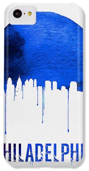 Philadelphia Skyline Blue IPhone 5c Case by Naxart Studio