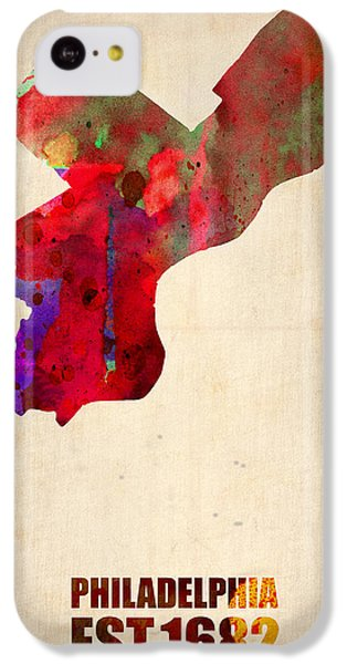 Philadelphia Watercolor Map IPhone 5c Case by Naxart Studio