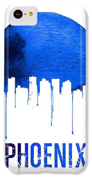 Phoenix Skyline Blue IPhone 5c Case by Naxart Studio
