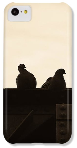 Pigeon iPhone 5c Case - Pigeon And Steel by Bob Orsillo