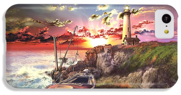 Pigeon iPhone 5c Case - Pigeon Point Lighthouse by Bekim Art