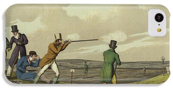 Pigeon Shooting IPhone 5c Case by Henry Thomas Alken