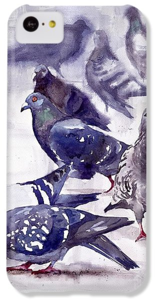 Pigeon iPhone 5c Case - Pigeons Watercolor by Suzann's Art
