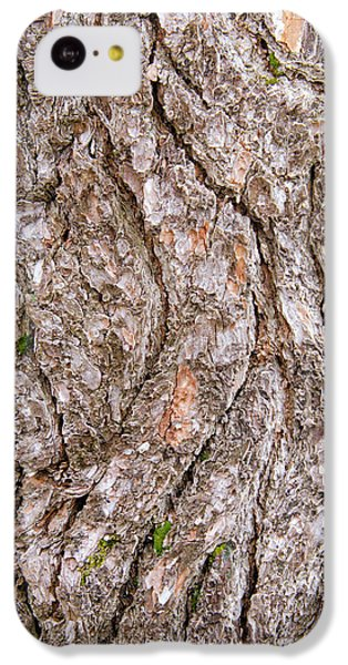 Pine Bark Abstract IPhone 5c Case by Christina Rollo