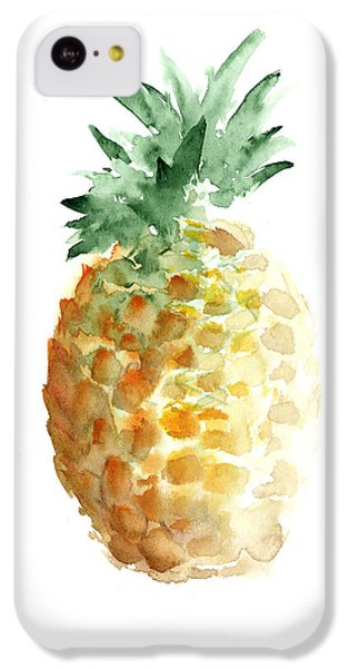 Pineapple Watercolor Minimalist Painting IPhone 5c Case