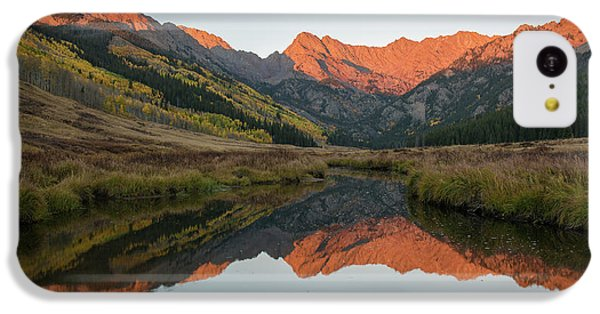 IPhone 5c Case featuring the photograph Piney River Autumn Sunrise by Aaron Spong