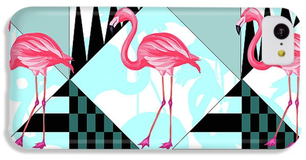 Ping Flamingo IPhone 5c Case by Mark Ashkenazi