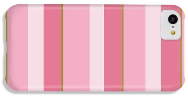 Pink Blush Stripe Pattern IPhone 5c Case by Christina Rollo