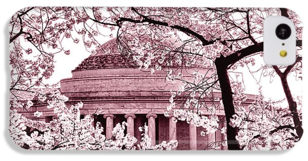 Jefferson Memorial iPhone 5c Case - Pink Cherry Trees At The Jefferson Memorial by Olivier Le Queinec