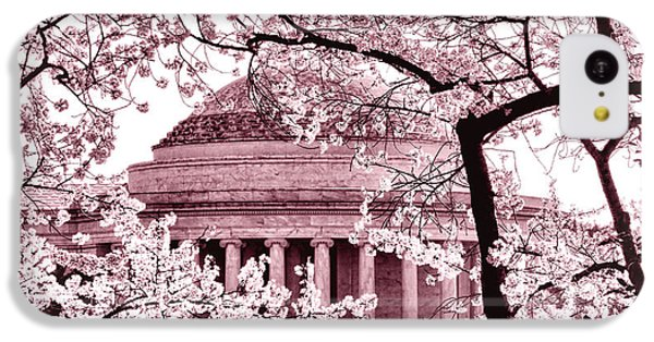 Pink Cherry Trees At The Jefferson Memorial IPhone 5c Case by Olivier Le Queinec