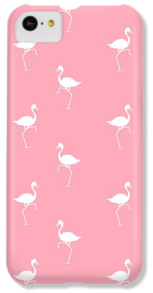 Pink Flamingos Pattern IPhone 5c Case by Christina Rollo