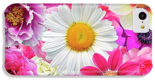 Pink Flowers  IPhone 5c Case by Gloria Sanchez