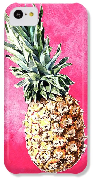 Pink Pineapple Bright Fruit Still Life Healthy Living Yoga Inspiration Tropical Island Kawaii Cute IPhone 5c Case