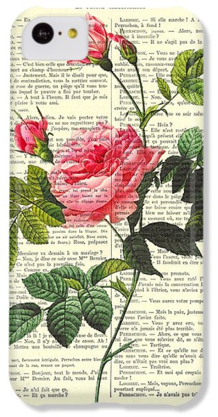 Floral iPhone 5c Case - Pink Roses, Valentines Gift by Madame Memento